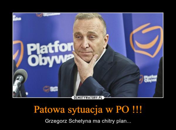 Patowa sytuacja w PO !!! – Grzegorz Schetyna ma chitry plan...
