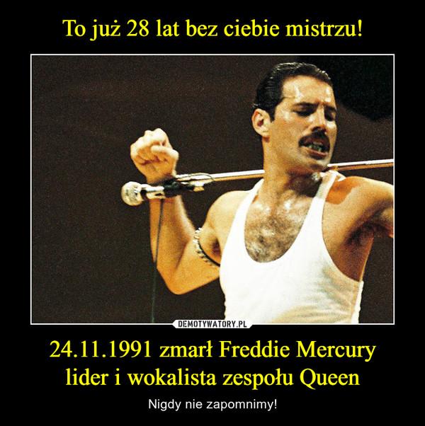 24.11.1991 zmarł Freddie Mercurylider i wokalista zespołu Queen – Nigdy nie zapomnimy!