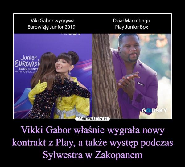Vikki Gabor właśnie wygrała nowy kontrakt z Play, a także występ podczas Sylwestra w Zakopanem –  Vi ki Gabor wygrywaEurowizję Junior 2019!Dział MarketinguPlay Junior Box