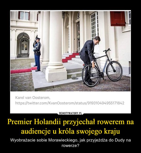 Premier Holandii przyjechał rowerem na audiencje u króla swojego kraju – Wyobrażacie sobie Morawieckiego, jak przyjeżdża do Dudy na rowerze?