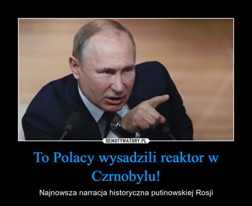 To Polacy wysadzili reaktor w Czrnobylu!