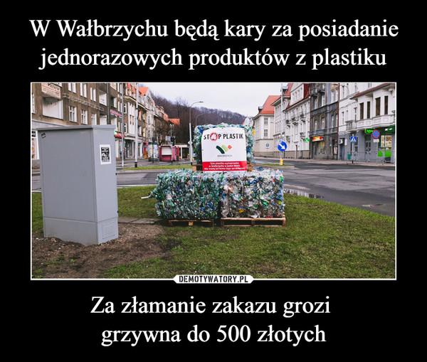 Za złamanie zakazu grozi grzywna do 500 złotych –