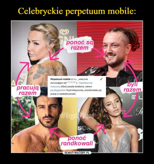 Celebryckie perpetuum mobile: