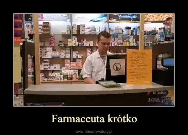 Farmaceuta krótko –