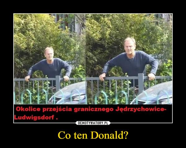 Co ten Donald? –