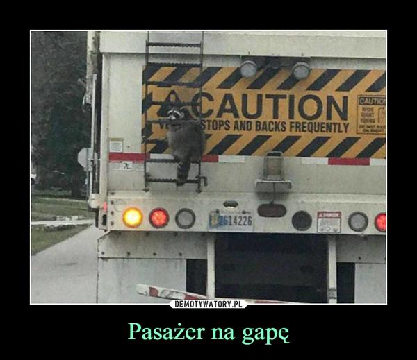 Pasażer na gapę –
