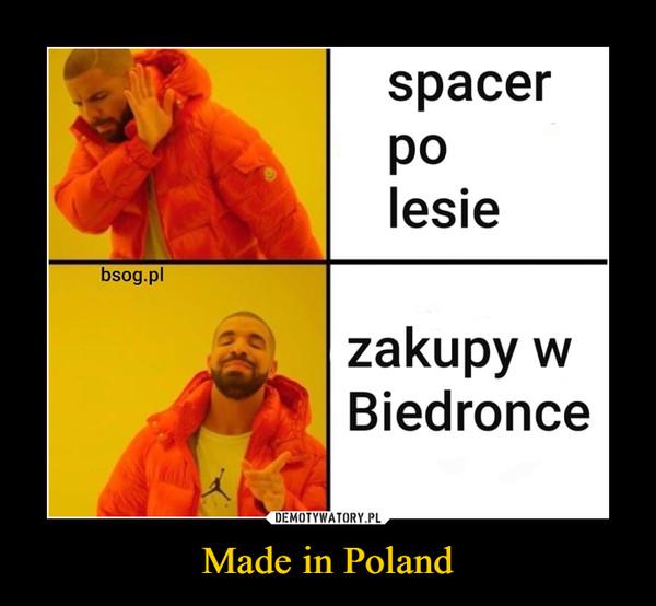 Made in Poland –  spacerpolesiebsog.plzakupy wBiedronce
