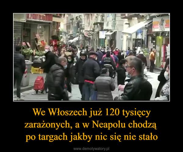 We Włoszech już 120 tysięcy zarażonych, a w Neapolu chodzą po targach jakby nic się nie stało –