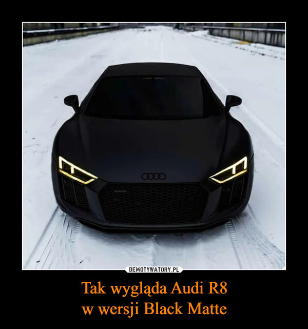 Tak wygląda Audi R8w wersji Black Matte –