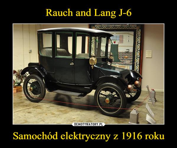 Samochód elektryczny z 1916 roku –