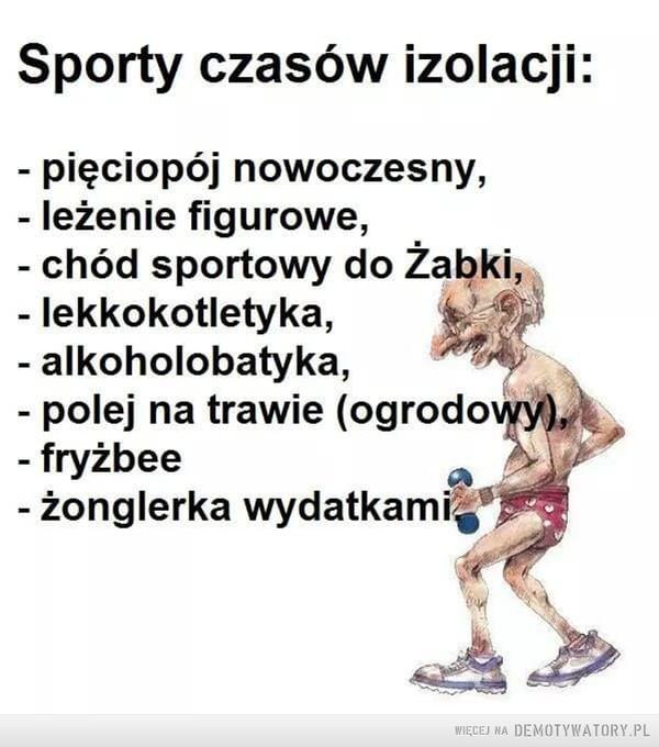 Sporty czasów izolacji –