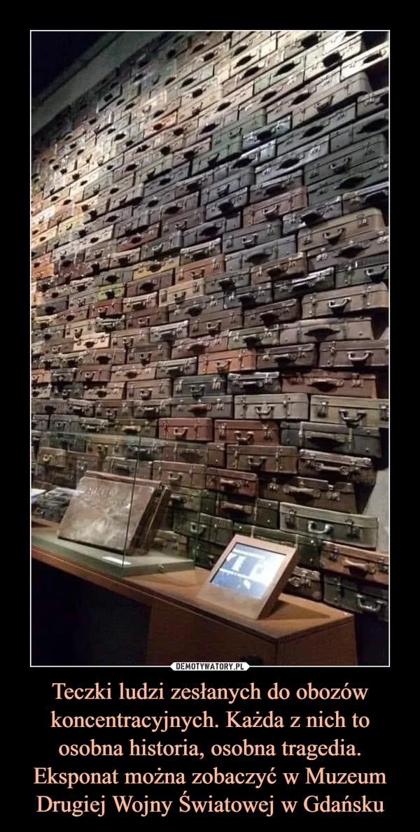 Teczki ludzi zesłanych do obozów koncentracyjnych. Każda z nich to osobna historia, osobna tragedia. Eksponat można zobaczyć w Muzeum Drugiej Wojny Światowej w Gdańsku –