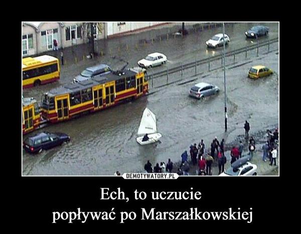Ech, to uczucie popływać po Marszałkowskiej –