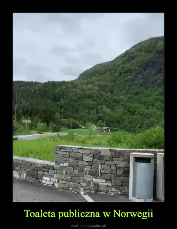 Toaleta publiczna w Norwegii –