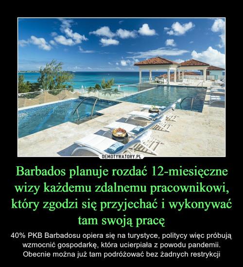 Barbados planuje rozdać 12-miesięczne wizy każdemu zdalnemu pracownikowi, który zgodzi się przyjechać i wykonywać tam swoją pracę