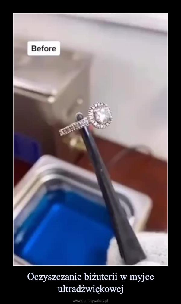 Oczyszczanie biżuterii w myjce ultradźwiękowej –