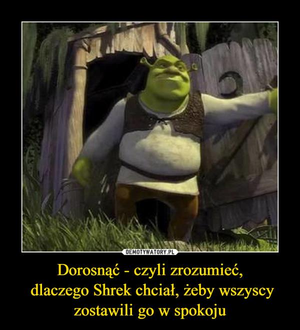 Dorosnąć - czyli zrozumieć, dlaczego Shrek chciał, żeby wszyscy zostawili go w spokoju –
