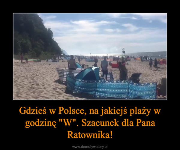 """Gdzieś w Polsce, na jakiejś plaży w godzinę """"W"""". Szacunek dla Pana Ratownika! –"""