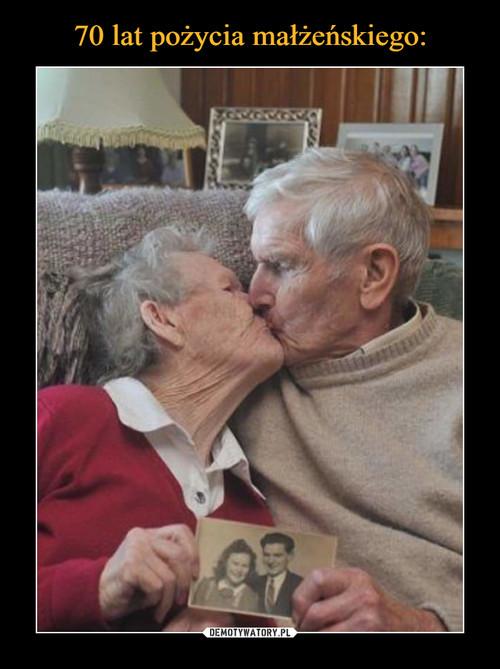 70 lat pożycia małżeńskiego: