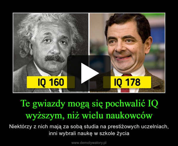 Te gwiazdy mogą się pochwalić IQ wyższym, niż wielu naukowców – Niektórzy z nich mają za sobą studia na prestiżowych uczelniach, inni wybrali naukę w szkole życia
