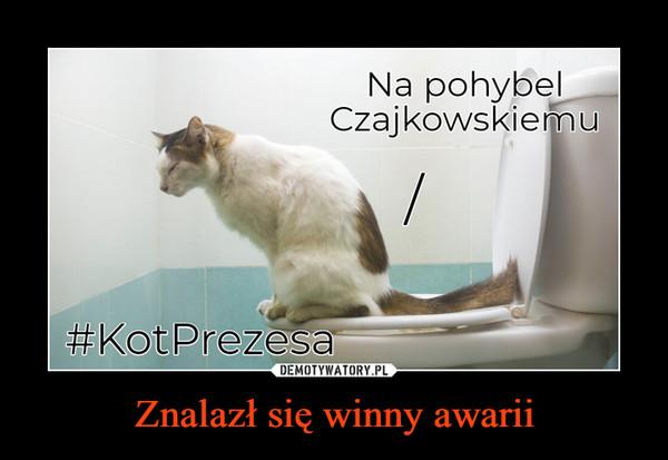 Znalazł się winny awarii –  Na pohybel Czajkowskiemu#KotPrezesa