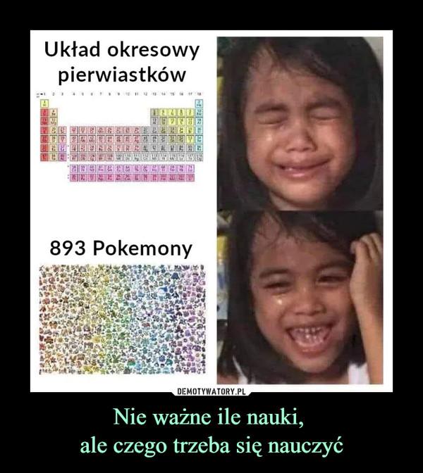 Nie ważne ile nauki, ale czego trzeba się nauczyć –  Układ okresowy pierwiastków 893 Pokemony