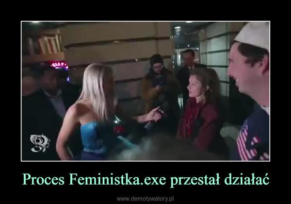 Proces Feministka.exe przestał działać –