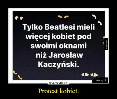 Protest kobiet.