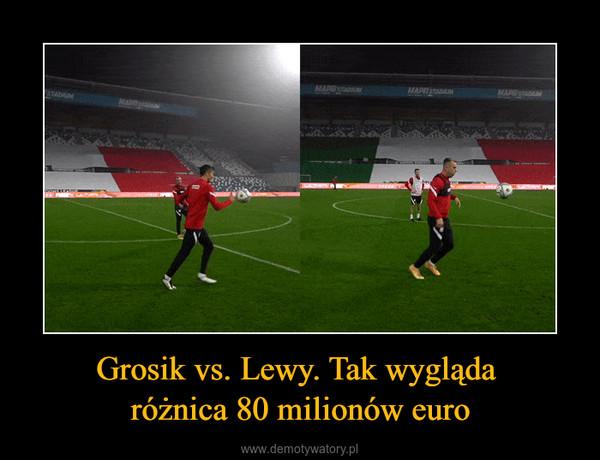 Grosik vs. Lewy. Tak wygląda różnica 80 milionów euro –