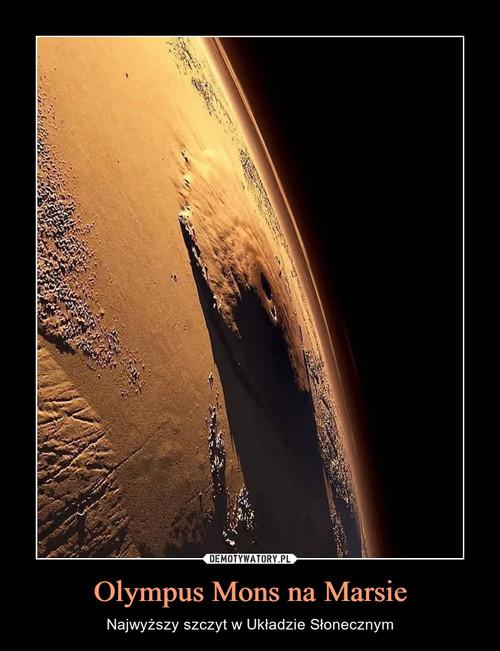 Olympus Mons na Marsie