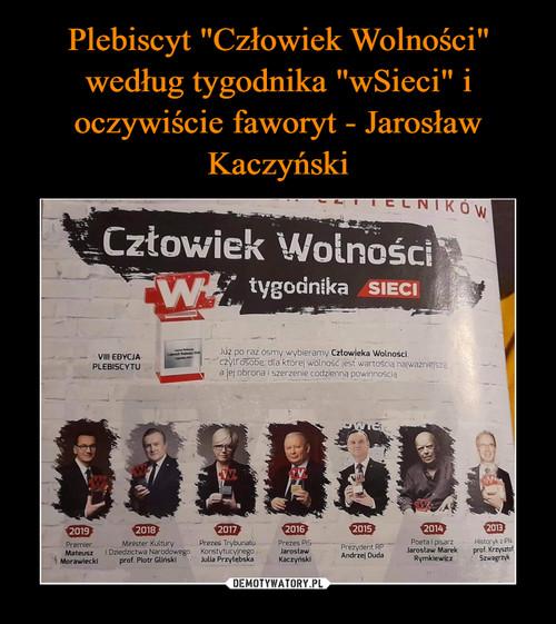 """Plebiscyt """"Człowiek Wolności"""" według tygodnika """"wSieci"""" i oczywiście faworyt - Jarosław Kaczyński"""