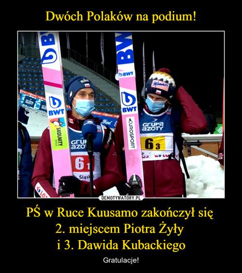 Dwóch Polaków na podium! PŚ w Ruce Kuusamo zakończył się  2. miejscem Piotra Żyły  i 3. Dawida Kubackiego