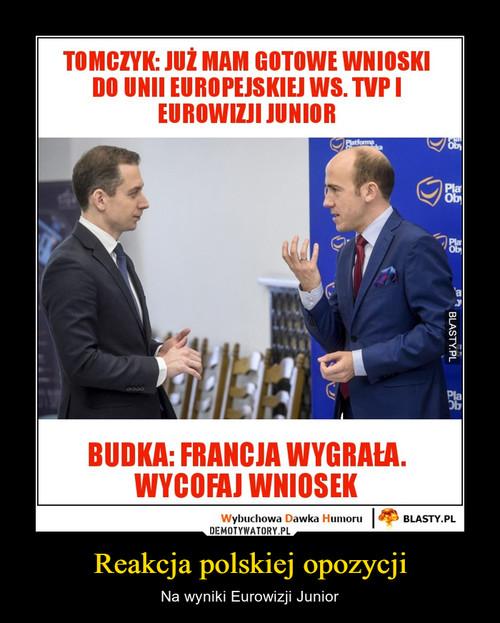 Reakcja polskiej opozycji