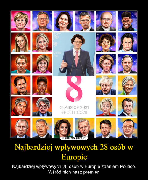 Najbardziej wpływowych 28 osób w Europie