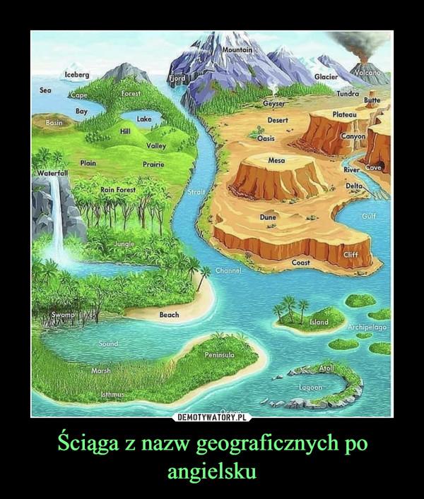 Ściąga z nazw geograficznych po angielsku –