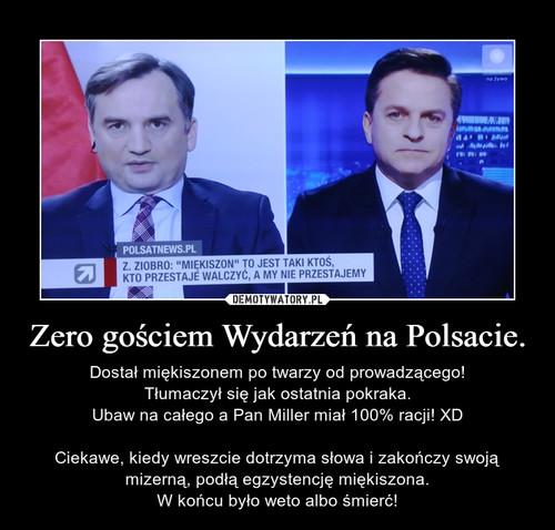 Zero gościem Wydarzeń na Polsacie.
