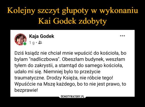 Kolejny szczyt głupoty w wykonaniu Kai Godek zdobyty