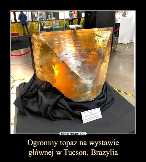 Ogromny topaz na wystawie głównej w Tucson, Brazylia