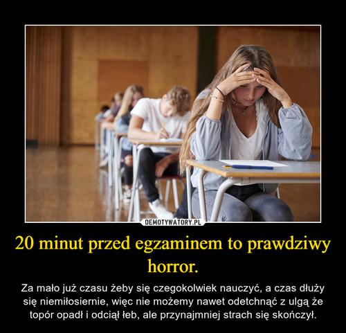 20 minut przed egzaminem to prawdziwy horror.
