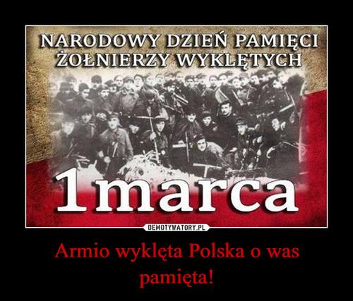 Armio wyklęta Polska o was pamięta!
