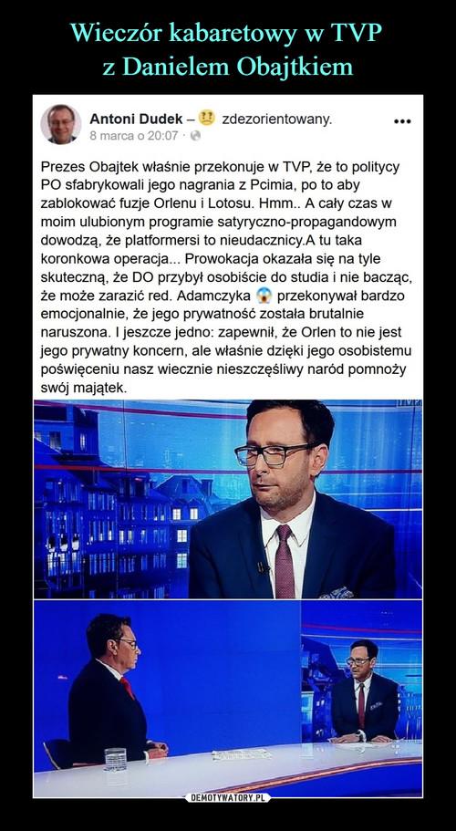 Wieczór kabaretowy w TVP  z Danielem Obajtkiem