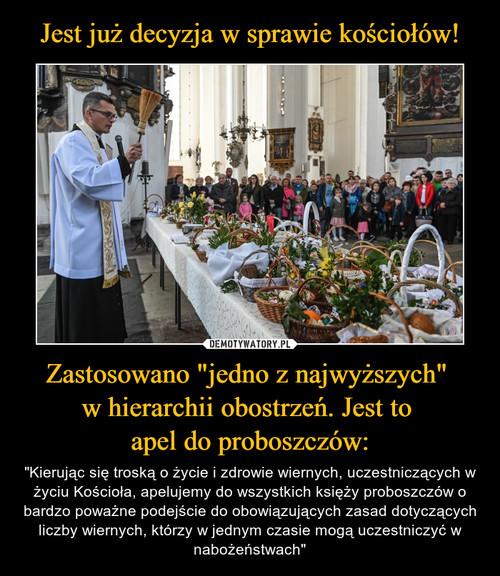 """Jest już decyzja w sprawie kościołów! Zastosowano """"jedno z najwyższych""""  w hierarchii obostrzeń. Jest to  apel do proboszczów:"""