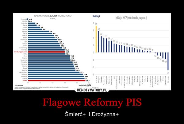 Flagowe Reformy PIS – Śmierć+  i Drożyzna+