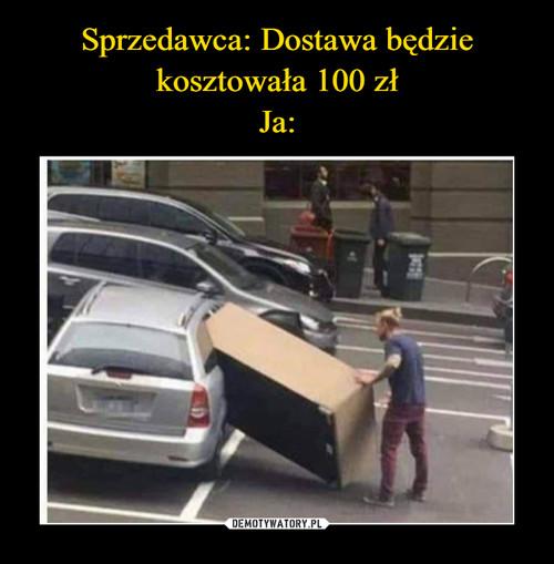Sprzedawca: Dostawa będzie kosztowała 100 zł Ja:
