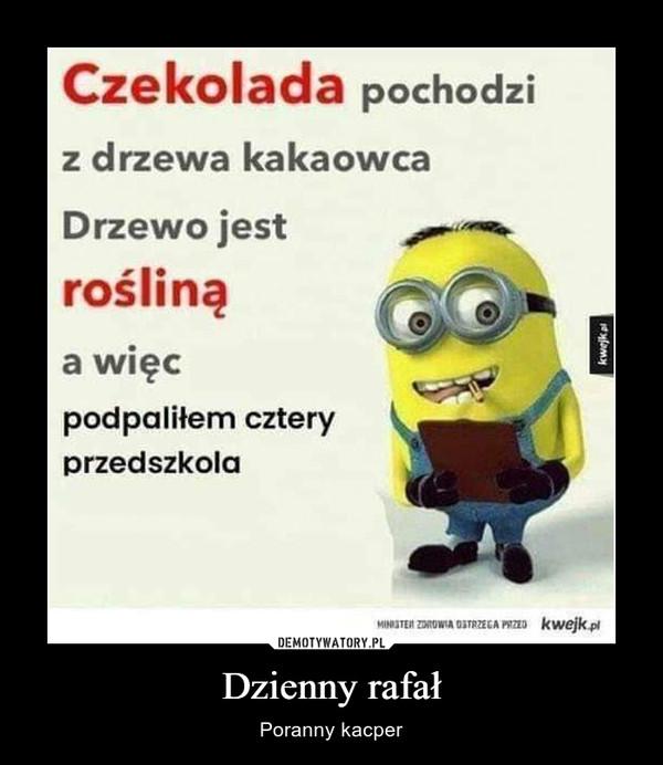 Dzienny rafał – Poranny kacper