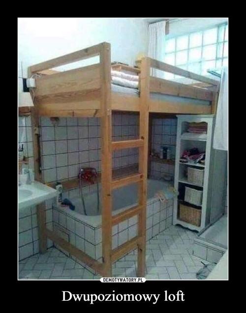 Dwupoziomowy loft