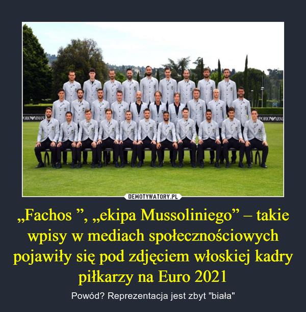 """""""Fachos """", """"ekipa Mussoliniego"""" – takie wpisy w mediach społecznościowych pojawiły się pod zdjęciem włoskiej kadry piłkarzy na Euro 2021 – Powód? Reprezentacja jest zbyt """"biała"""""""
