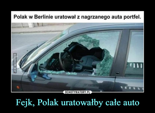 Fejk, Polak uratowałby całe auto