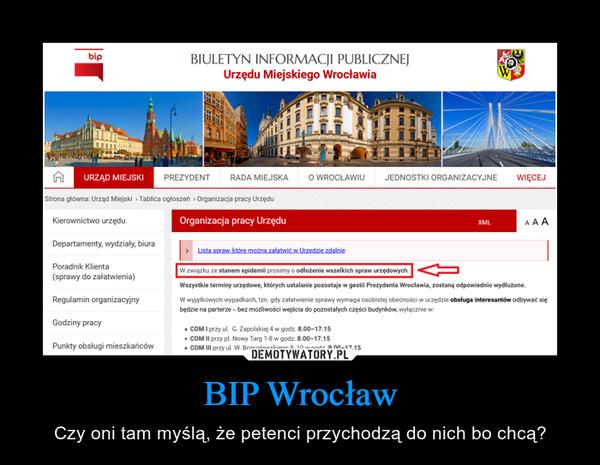 BIP Wrocław – Czy oni tam myślą, że petenci przychodzą do nich bo chcą?