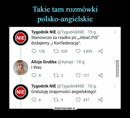 Takie tam rozmówki polsko-angielskie
